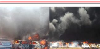 300 cars gutted in fire near venue of Aero India