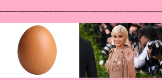 Kylie's recordbroken by an egg